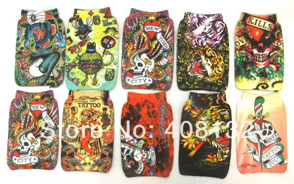 Wholesale Skull Tigger MP3/MP4/ mobile case Protection cell phone bag/case soft Socks(China (Mainland))