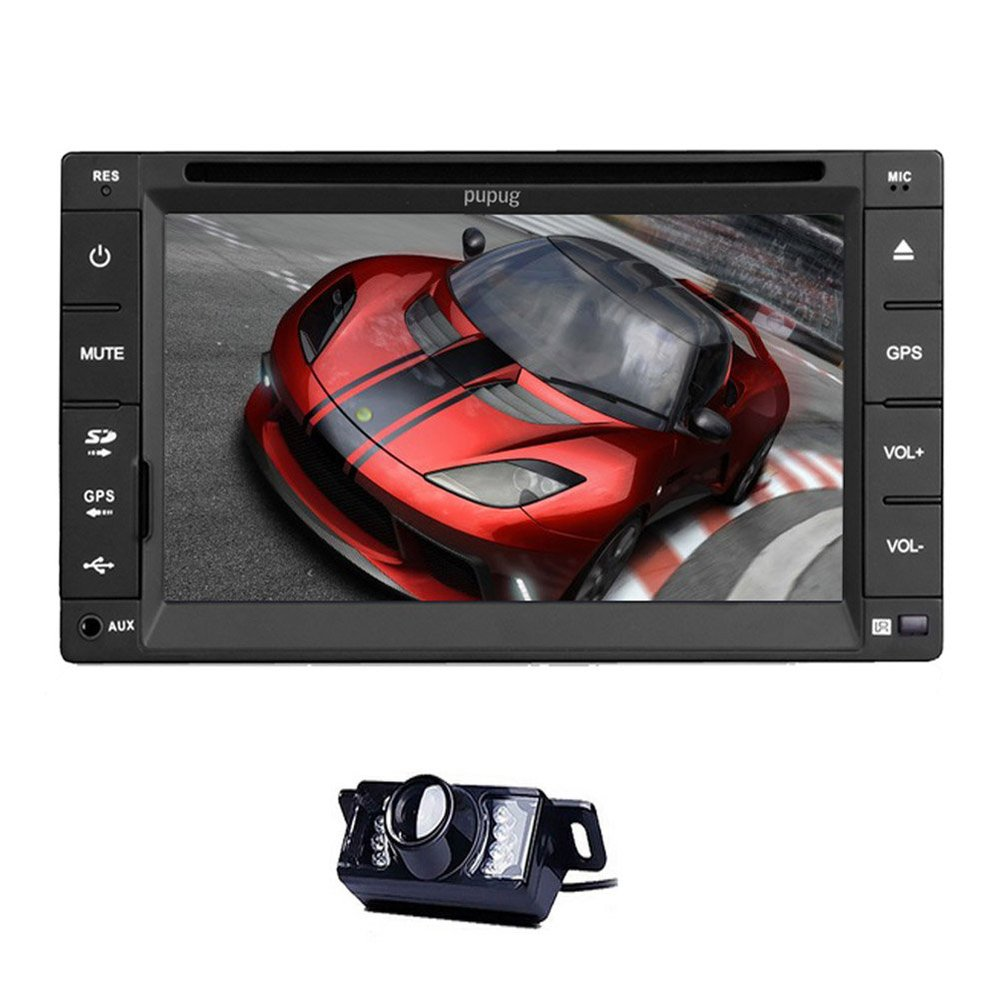 6.2 Inch Car Radio Double Din In Dash HD Touch Screen Car DVD Player Stereo Support Bluetooth/SD/USB/AM/FM Rear review Camera(China (Mainland))