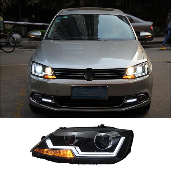 LED Turning Light Headlights Head Lamp For Volkswagen VW Sagitar Jetta 2014 2015 dedicated  Car Styling<br><br>Aliexpress