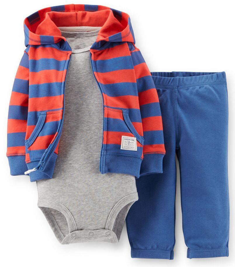 2016 Original Carter New newborn baby clothes, autumn, winter clothes hooded sweatshirts children + shirt + pants newborn baby(China (Mainland))