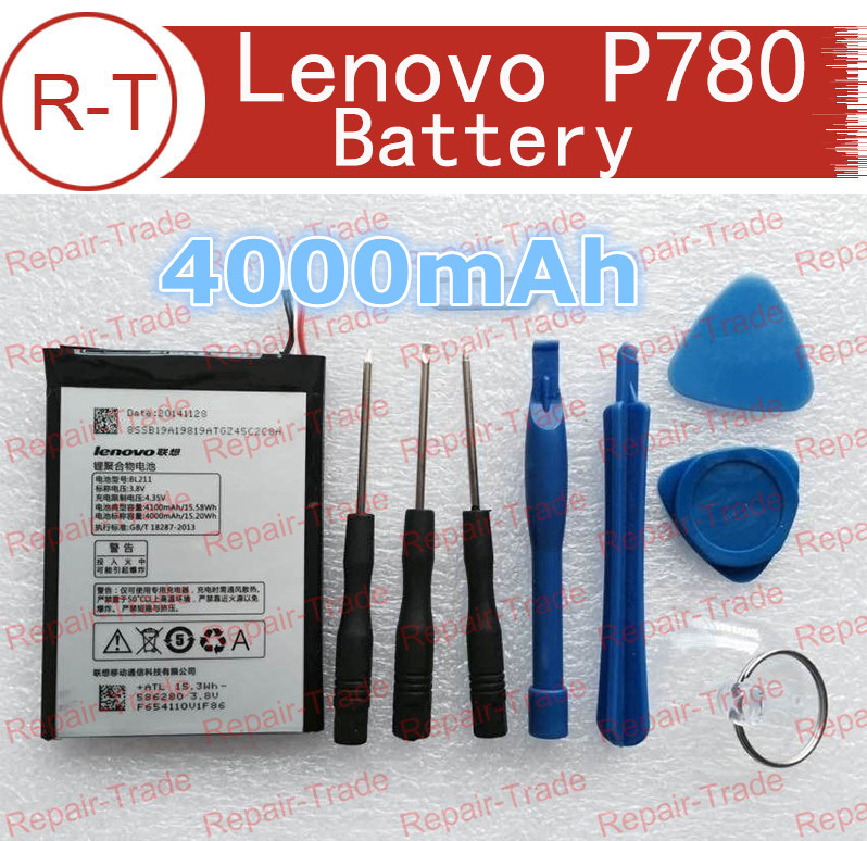 Lenovo P780 Battery Replacement BL211 With Repair Tools 100% Original 4000mah Li-on Battery For Lenovo P780 Mobile Cell Phone