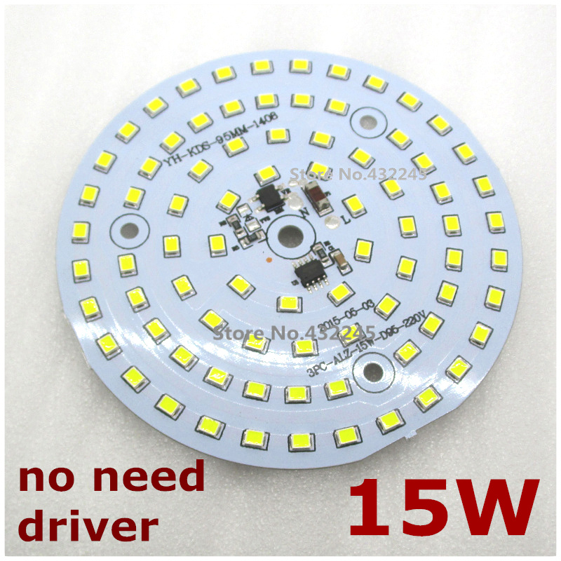 20 pieces 15W 30W 60W 100W 2835 SMD Lamp Plate  220V Directly Lighting  Aluminum Panel Bulb Plate no need driver.  free shipping<br><br>Aliexpress