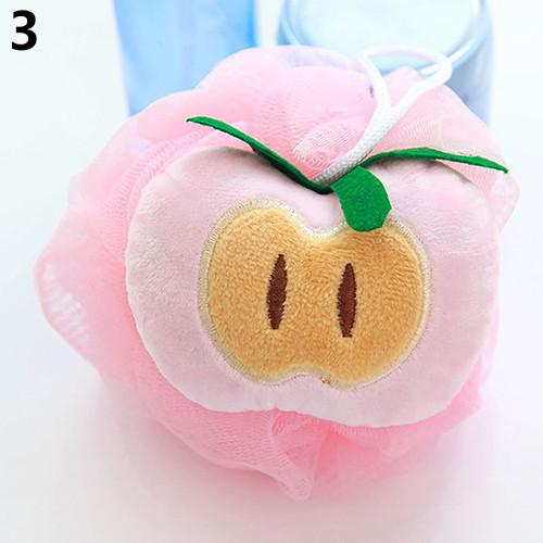 Soft Fruit Shape Bath Puff Shower Sponge Body Foam Bubble Net Ball Body Scrub