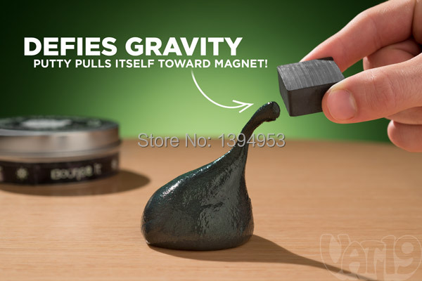 2015 Halloween Super Strange Special Magic Magnetic Bouncing Toy Thinking Putty Silly Handgum with Cube Magnet free Shipping(China (Mainland))