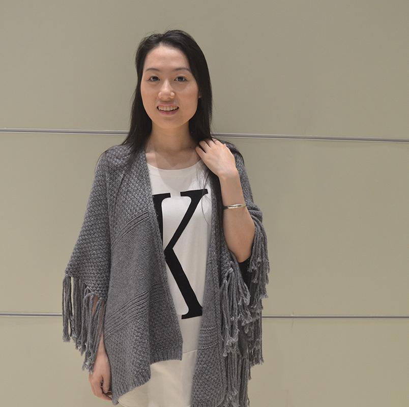 2015 New Women's Knitted Shawls Wraps Women Poncho Coat with Tassel Casual Ladies Shawls cachecol feminino ZC032(China (Mainland))