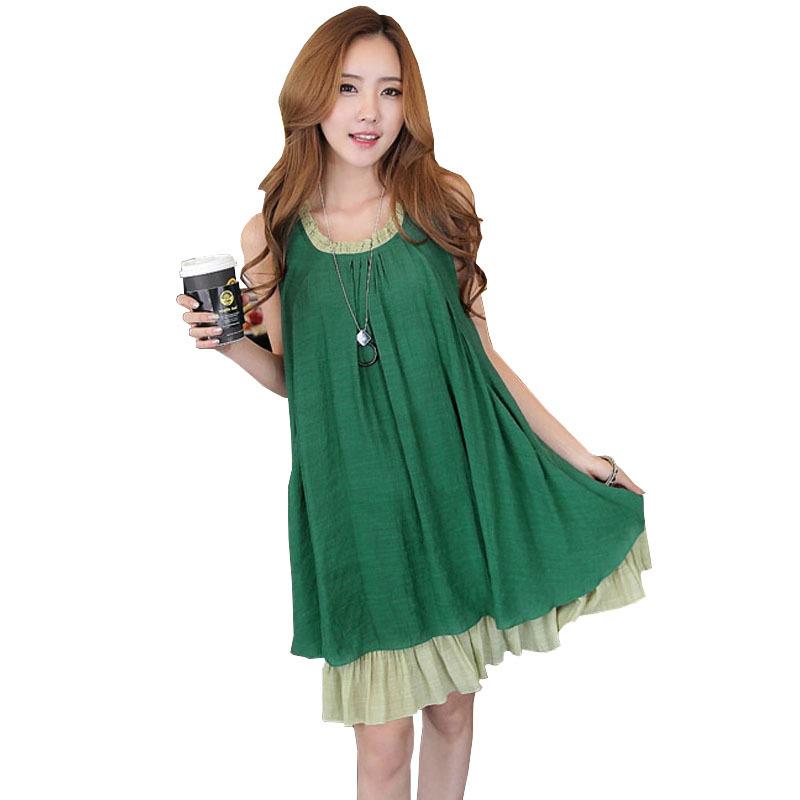 Summer 2015 New Maternity Clothing Dresses Fashion Chiffon Sleeveless Pregnancy Dress Clothes For Pregnant Women Hamile Giyim(China (Mainland))