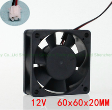3D printer accessory Reprap E3D Print Head Fan 12VDC 0.1A 4000rpm extruder cooling fan 60*60*20mm great quality free shipping