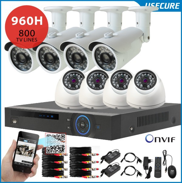8 channel CCTV DVR NVR HVR 8pcs 800tvl security indoor / outdoor camera 8ch 960h dvr kit hdmi 1080p, usb 3g wifi+Free shipping(China (Mainland))