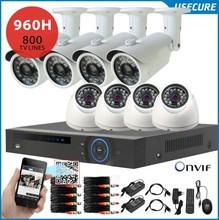 8-kanal-dvr nvr HVR 8 stück 800 tvl security Indoor/outdoor-kamera 8ch 960h dvr-kit hdmi 1080p, usb 3g wifi+free versand(China (Mainland))