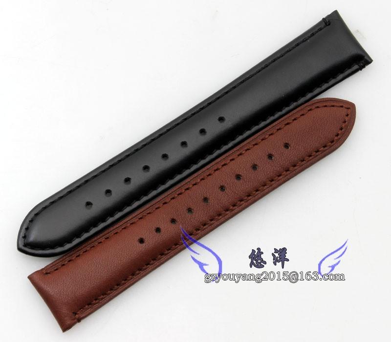 20 мм 22 мм гладкой натуральная кожа ремешок группы мужские Depolyment из нержавеющей стали пряжка