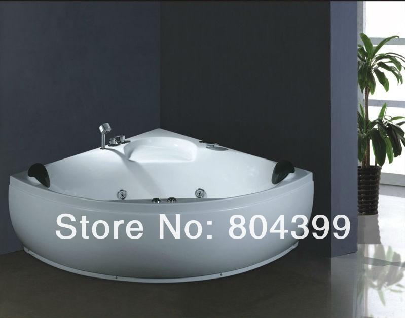big size massage bathtub bath tub indoor two pillows