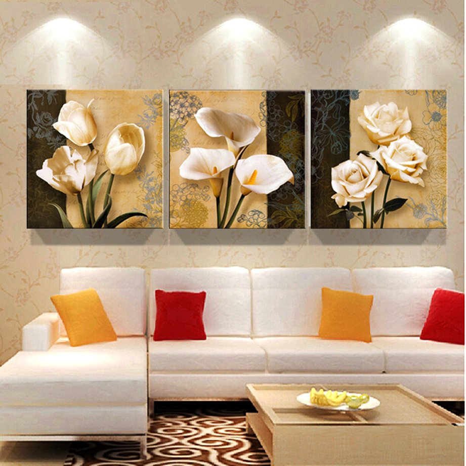 Buy 3 Free Shipping Cheap Brown Orchid Modern Art