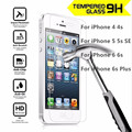 Cases For iPhone 7 Premium Real Tempered Glass Film For Alppe iPhone 4 4S 5 5S