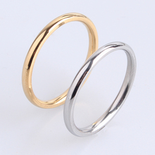 2mm gold silver Smooth 316L Stainless Steel wedding rings for women wholesale
