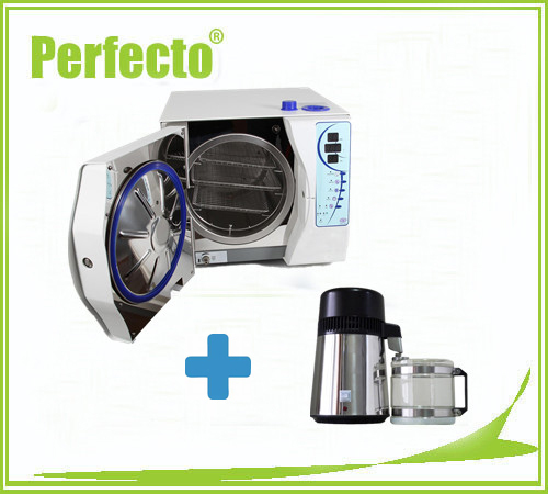 18L Vacuum Steam Dental Autoclave Sterilizer withOUT PRINTER and Stainless Steel Water Distiller FREE SHIPPING(China (Mainland))