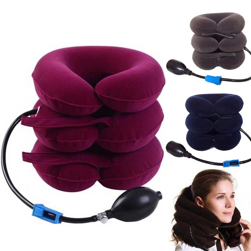 PNEUMATIC air Neck Health care beauty Cervical Traction collar pillow soft Brace Device neck massager Head Shoulder Pain device(China (Mainland))