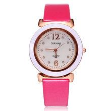 Relojes mujer marca 2014 moda casual correa de cuero del cuarzo analógicos diamantes para mujer vestido de las para mujer reloj de pulsera relojes dama párrafo