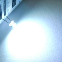 100pcs Straw Hat 5MM White LED Light Emitting Diode Super Bright Light 1200-1400mcd Highlighted White(China (Mainland))