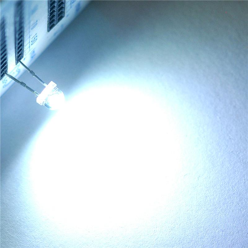 100pcs Straw Hat 5MM White LED Light Emitting Diode LED Lamp Super Bright Light 1200-1400mcd Highlighted White Leds(China (Mainland))