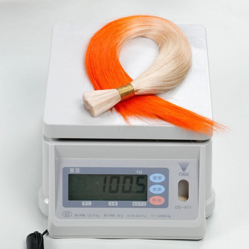 Sleek Two-Tone 10A Bulk Hair Ombre Brazilian Maiden hair Pure Human Hair 2 PCS/Lot T1001/ORANGE Silky Straight Hair Aliexpress