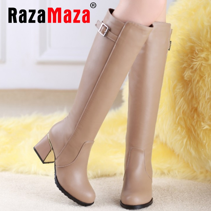 CooLcept Free shipping over knee high heel boots women snow fashion winter warm shoes boot P15646 EUR size 30-49<br><br>Aliexpress