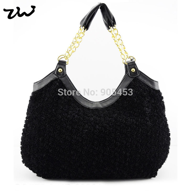 4 Colors Free shipping 2015 New Look Inspired Charming Women Handbags Designer Flowers Fashion Shoulder Bags /QQ776(China (Mainland))
