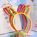 One Piece Random Character Style Headwear Colorful Crown Headband Candy Baby Rabbit Ear Children Hair Accessories