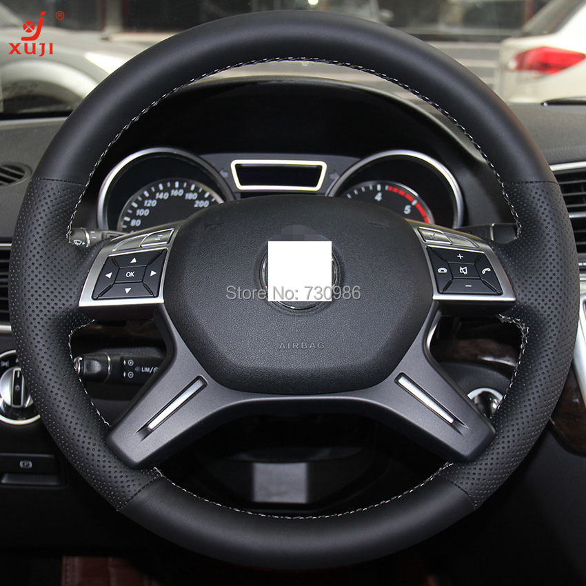 Steering wheel cover for mercedes benz gl350 ml350 xuji for Mercedes benz steering wheel cover