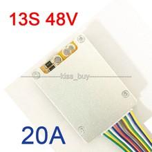 13S 48V Li-ion Lithium Cell 20A Battery Protection BMS PCB Board with balancing FOR Electric CAR Bicycle Protection Board(China (Mainland))