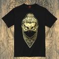 Men's Short Sleeve Tee T Shirt Mask Buddha/ Novelty T Shirt Man Black And White