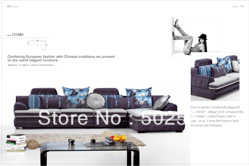 2014 new modern comfortable fabric corner sofa sectional living room furniture(China (Mainland))