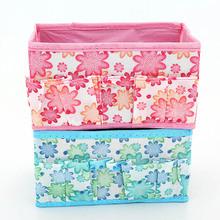 Hot Selling Multifunction Beauty Flower Folding Makeup Cosmetics Storage Box Organizer(China (Mainland))