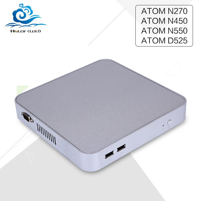 Low price mini desktop pc Atom N270 n450 D525 N550 1.33GHZ Fanless Small Hosting computer With Vga 2*Com 6*usb Lan(China (Mainland))