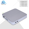 Low price mini desktop pc Atom N270 n450 D525 N550 1 33GHZ Fanless Small Hosting computer