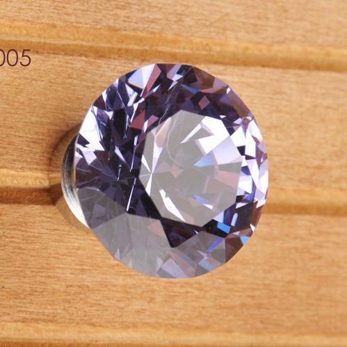 30mm Purple Crystal knobs, cabinet Knobs Door Handles / furniture pull / Cupboard knob(China (Mainland))