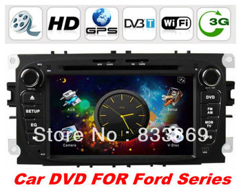 """In Dash 7"""" 2din Car DVD Player For Ford Mondeo S-Max Focus Tourneo Transit With GPS BT IPOD TV 3D UI PIP Video Radio/RDS 3G/WIFi"""