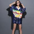 2016 Summer New Fashion 3D Printing Split Kimono Style Personality Long T shirt High Quality Unique