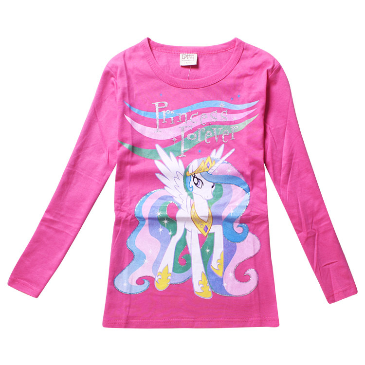 Freeshopping 307 Autumn Cotton t-shirt cartoon charictor pony Hoodies girls/ kids clothes/Children Hoody - Lovely Angel's store