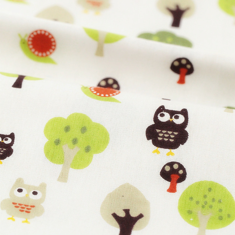 1PCS DIY Handmade Patchwork Fluid Fabric Owl Big Tree Table Cloth Sofa Curtain Cloth 50*150cm Free Shipping # JC056(China (Mainland))