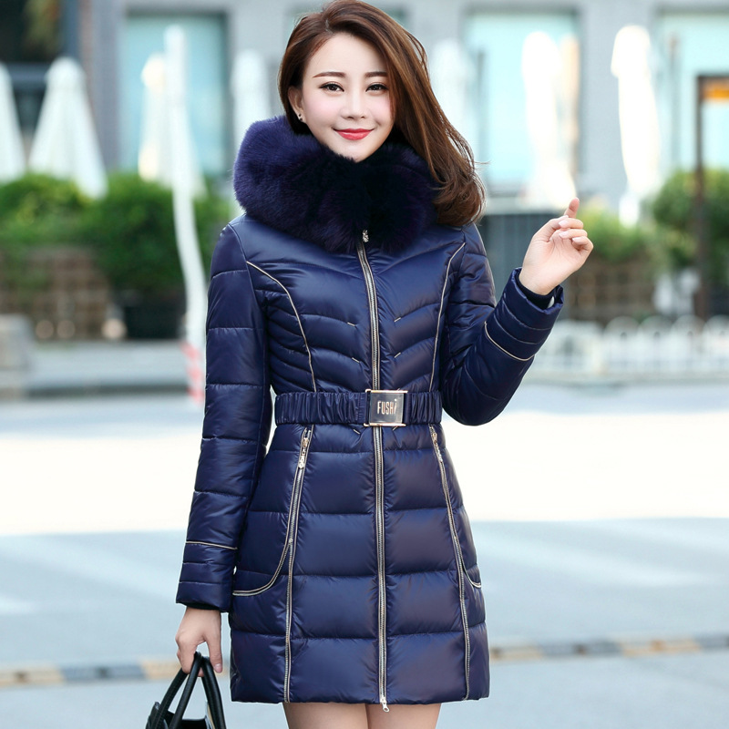4XL plus size women coats 2015 fashion slim winter coat women parkas jacket large fur collar ladies coat  DX582Одежда и ак�е��уары<br><br><br>Aliexpress