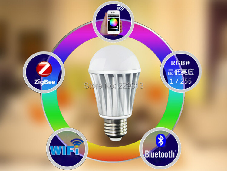 Free shipping!!! 7W wifi bulbs/ intelligent bulbs/ Smart bulbs/lamps suitable for the android& apple system(China (Mainland))