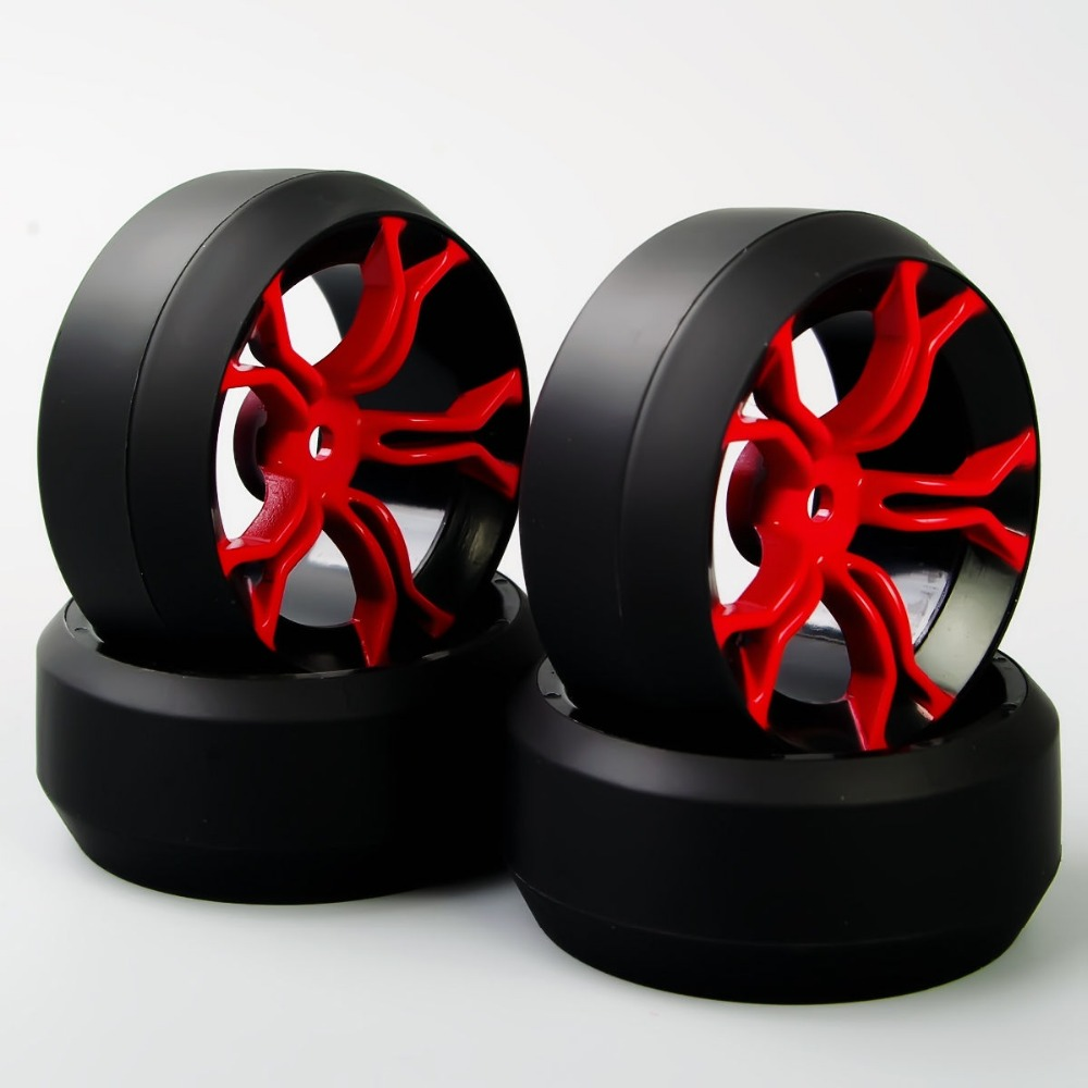 Cheap New 3 Degree 12 mm Hex RC Drift Tires & Wheel Rim Fit HSP HPI 1:10 On-Road Car KF/MPNKR+PP0367 A(China (Mainland))