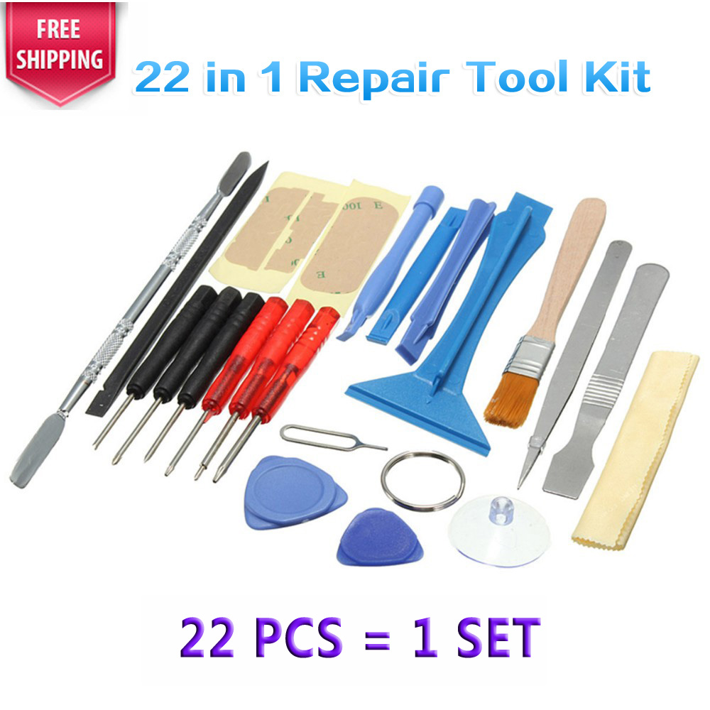 1 Set 22 In 1 Phone Opening Pry Disassembly Ferramentas Tools Screwdrivers Repair Tool Kit For iPhone 4 5S 6 Plus For Samsung S6(China (Mainland))