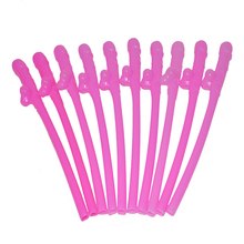Drinking Penis Straws Dicky Sipping Straw Joke Sex Toys for Hen party Bachelorette party dickies 10pcs of hot pink Straw