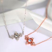 Red trees бренд ювелирных украшений гарантия стерлингового серебра 925 природных драгоценных камней лунный камень ожерелье и кулон для женщин(China (Mainland))