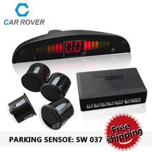 Парктроник 4 зонды автомобиль парковочный сенсор системы резервного копирования детектор радар белый черный серебряный золотой серый желтый красный синий SW037