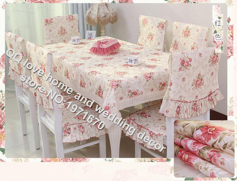 Table linen suit chair cover chair cushion table cloth rural tablecloth hollow-out lace table cloth cloth(China (Mainland))