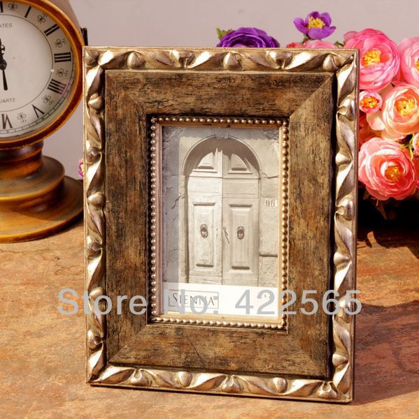 American Countryside Style Photo Frame Low Luxury Wooden Photo Frame Vintage Make-Old Embossed Picture Frame,#11025(China (Mainland))