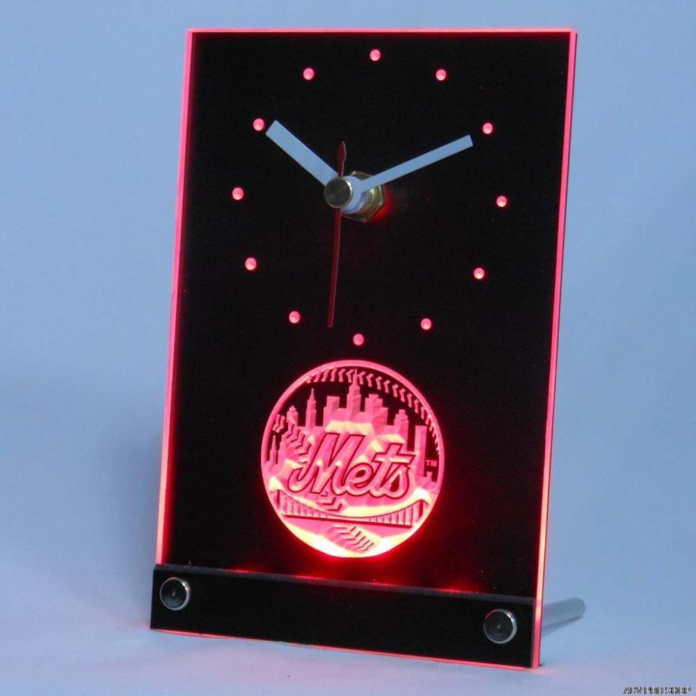 tnc0569 New York Mets Table Desk 3D LED Clock(China (Mainland))