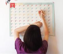 D-day 100 Calendar 100 days wall Calendar planner daily  countdown agenda plan schedule   memo organizer to do list(China (Mainland))